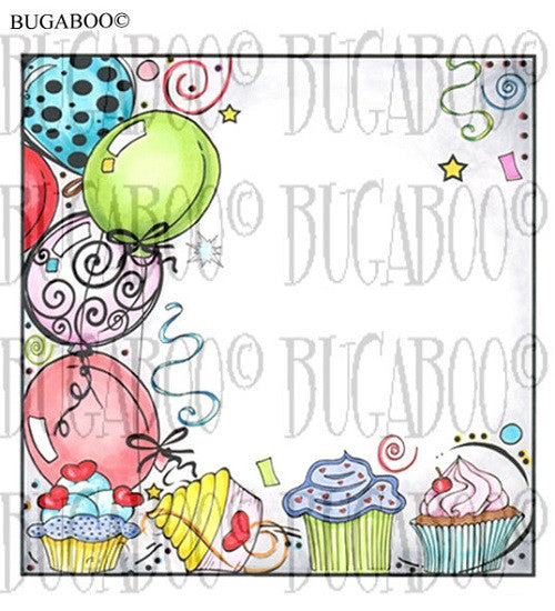 Party #1 Balloons Rubber Stamp Set [00-821P7]