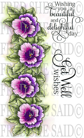 Pansies Rubber Stamp Set [00-826P8]