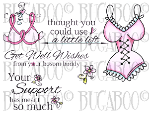 Girlfriend Support Set 1 Rubber Stamp Set [00-832P5]