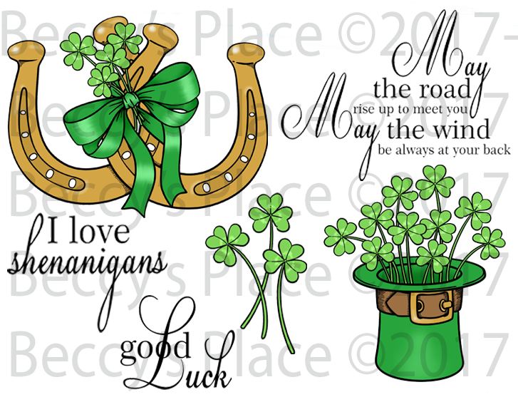 Irish Blessings-St. Patrick's Day Rubber Stamp Set [00-834P5]