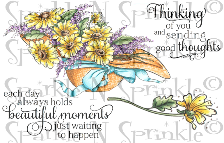 Bonnet Bouquet Digital Stamp Set [Digi838J]