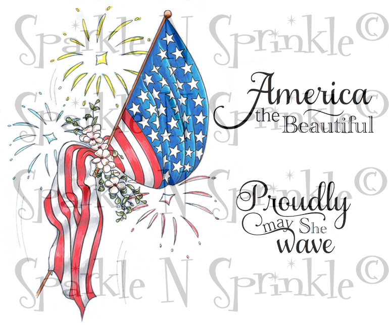 Proudly Patriotic Rubber Stamp Set [00-843P5]