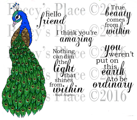 Digital Stamp Set 844 True Beauty