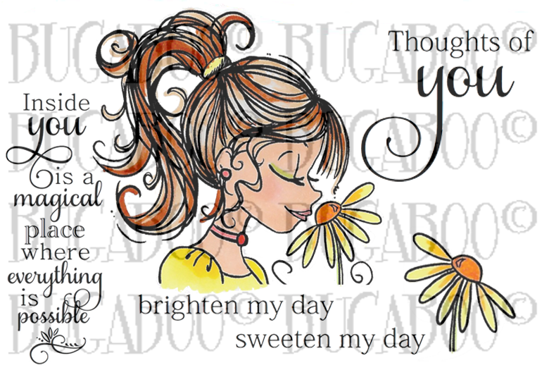 Flower Girl Magic in You Rubber Stamp Set [00-846P5]