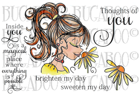 Flower Girl-Magic in You Rubber Stamp Set [00-846P5]