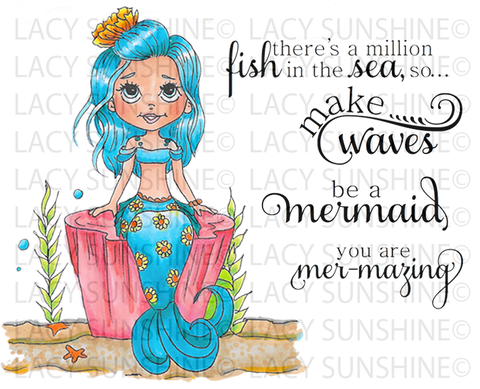 Kaitlyn Mermaid Digital Stamp Set [Digi847ls]