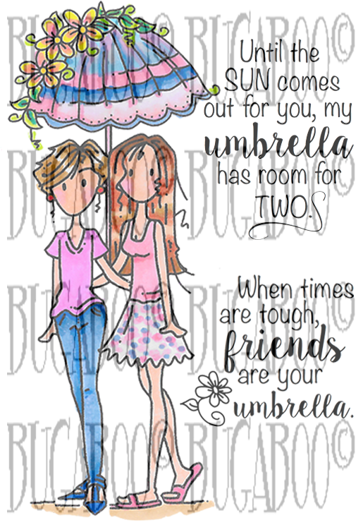 Umbrella Friends Digital Stamp Set [DIGI851BG]