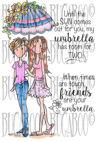 Digital Stamp Set 851 Umbrella Friends [DIGI851BG]
