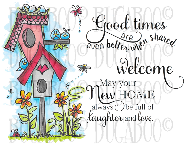 Birdhouse Friends Digital Stamp Set [DIGI852BG]