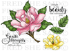 NEW Lovely Magnolia Rubber Stamp Set [00-853P5]