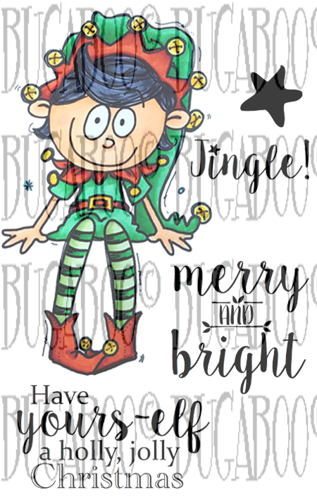 Elf Sitter Digi Stamp Set [DIGI859BG]