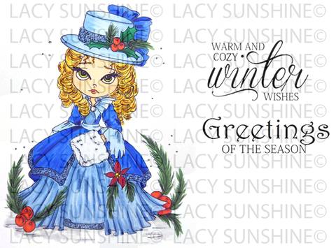 Victorian Camille at Christmas Digital Rubber Stamp Set [Digi864LS]