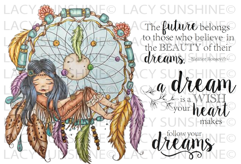 Dream Catcher Maiden Rubber Stamp Set [00-865P5]