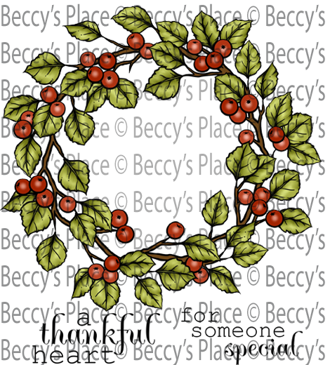 Autumn Berry Wreath Digital Stamp Set [Digi867B]