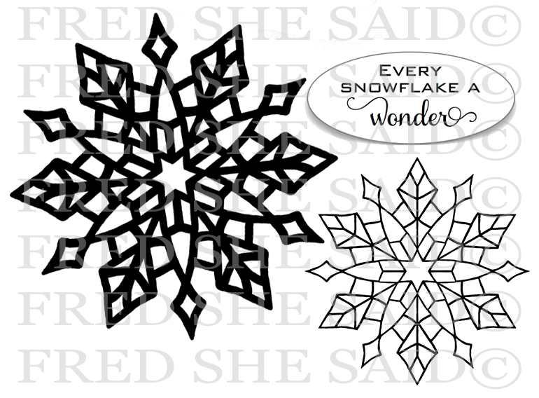 New Crystal Snowflakes SNS Rubber Stamp Set [00-868P5]