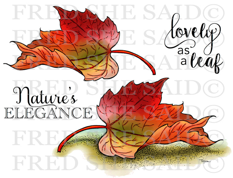 Lovely as a Leaf Rubber Stamp set [00-869P5]
