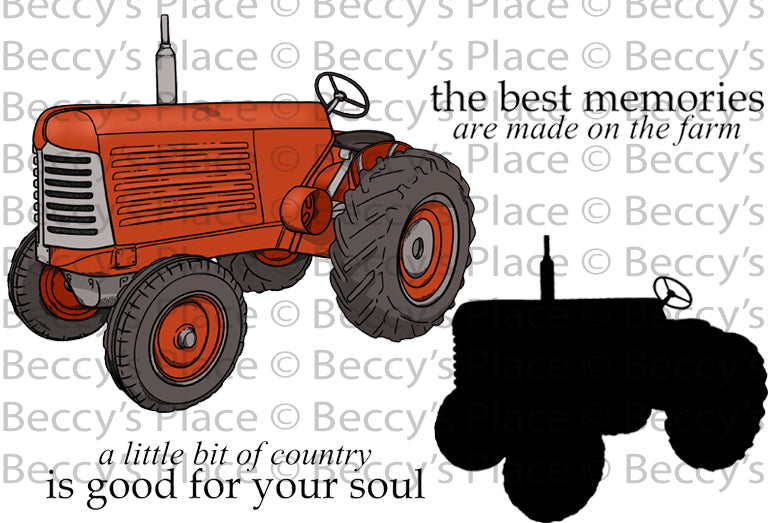 NEW   Farm Fresh-Tractors Rubber Stamp Set [00-877P5]