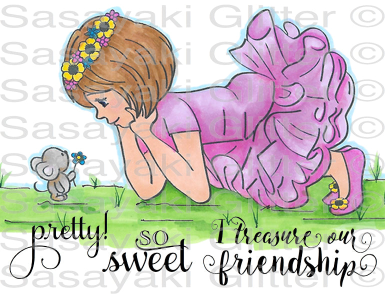 Cara and Mouse Friend Digital Stamp Set [Digi881SG]