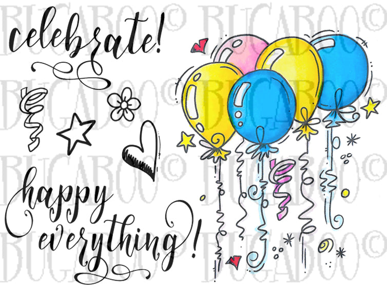Balloon Bunch Digital Stamp Set [Digi887BG]