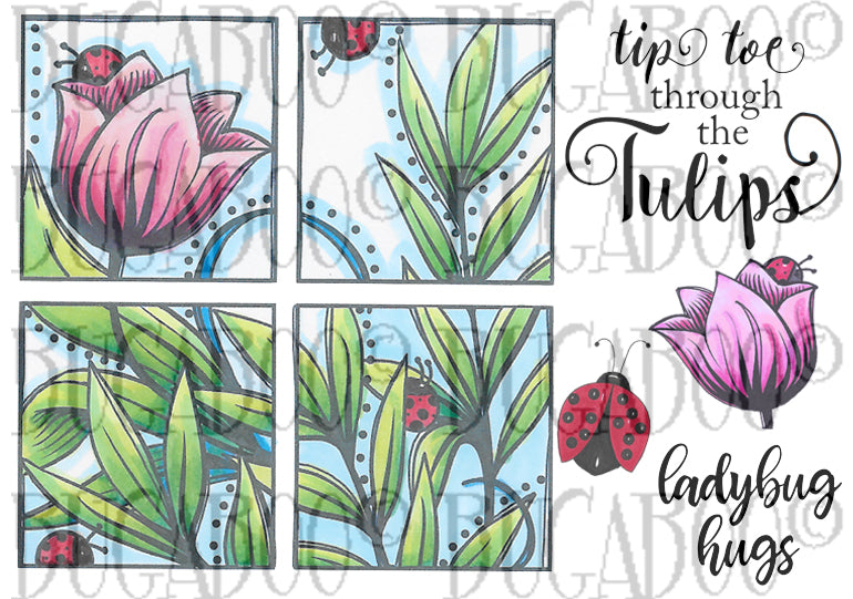 Tulip Square Stamp Set [00-894P5]