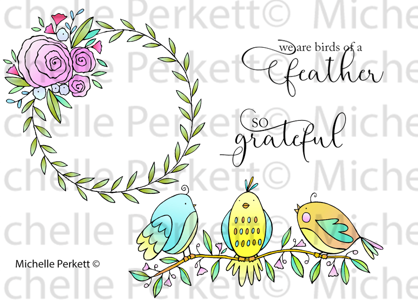 Feathered Friends Rubber Stamp Set [00-909P5]