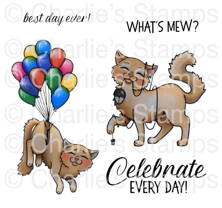 Kitty Celebrates Rubber Stamp Set, 00-926P5
