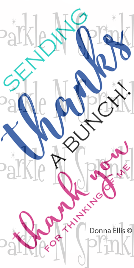 A Big Thanks Rubber Stamp Set [00-928P8]
