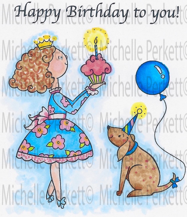 Abby's Birthday Party Digital Stamp Set [Digi569M]
