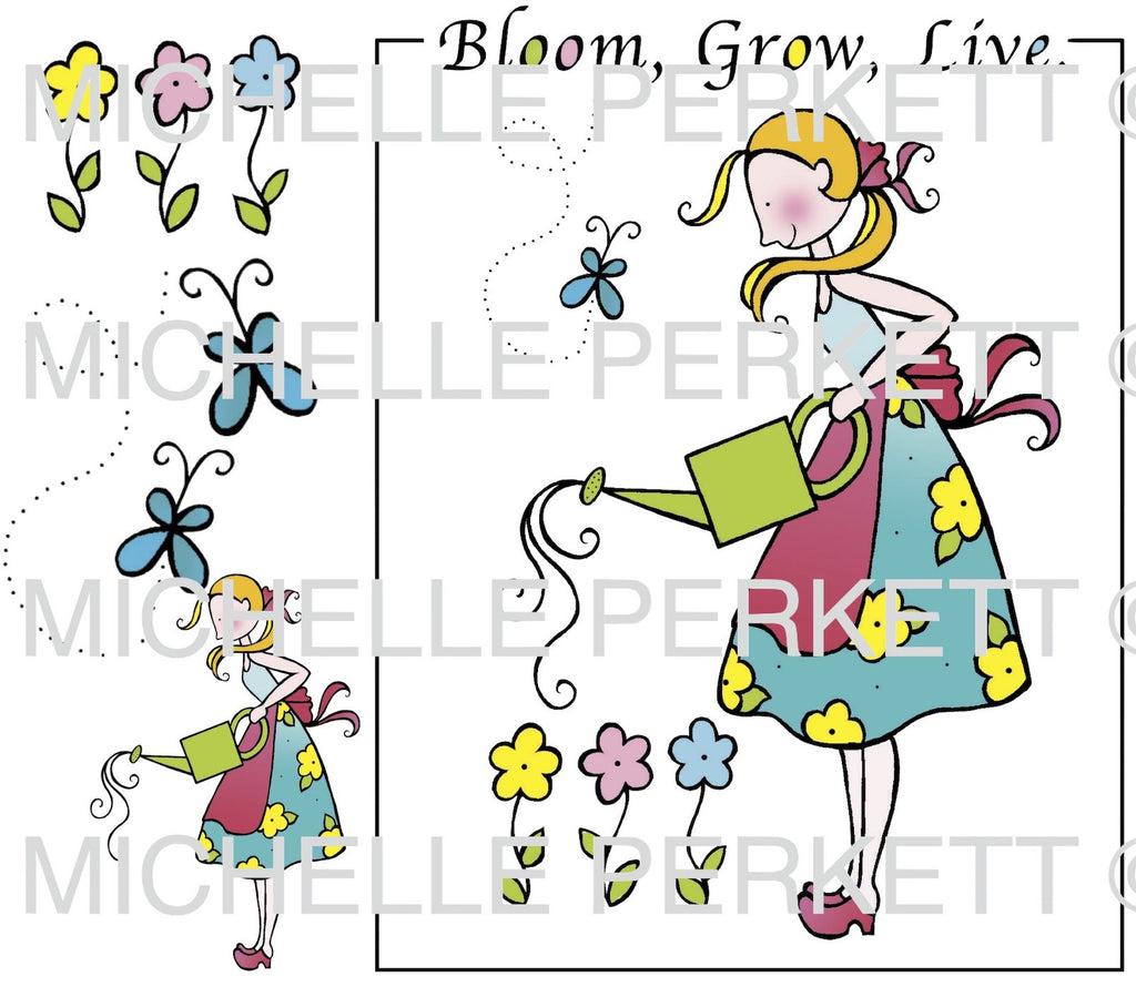 Digi Stamp Set Bloom Grow Live 3136M