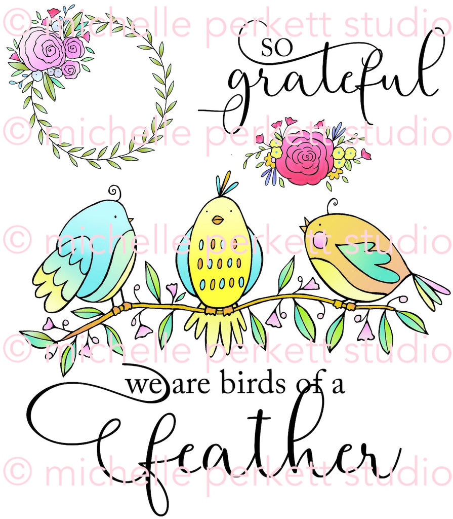 Feathered Friends Digital Stamp Set [DIGI909M]