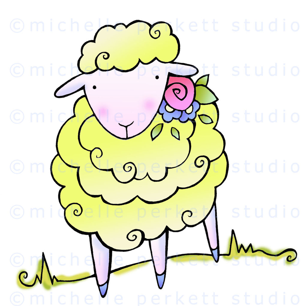 Lulu the Lamb Digital Stamp Set [DIGI3142M]