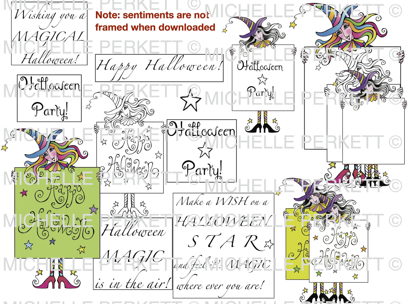 Halloween Party Digital Stamp Set [3133M]