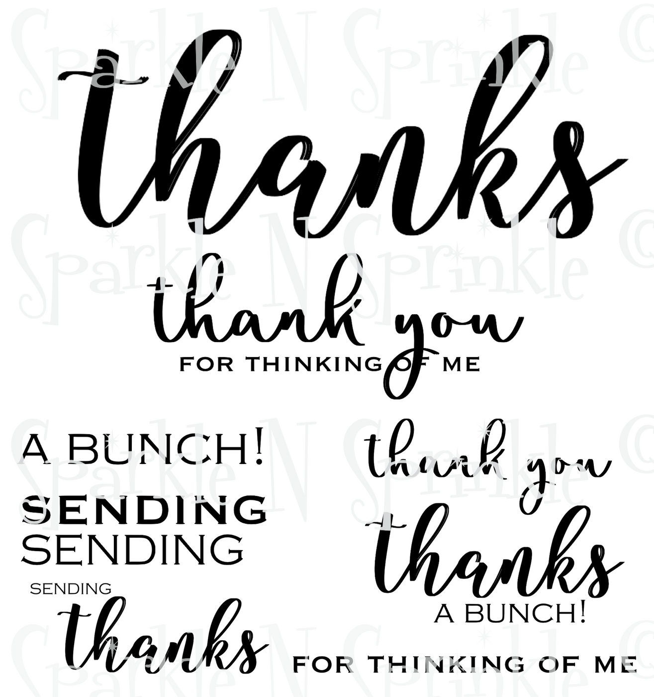 A Big Thanks Digital Stamp Set, DIGI928DE