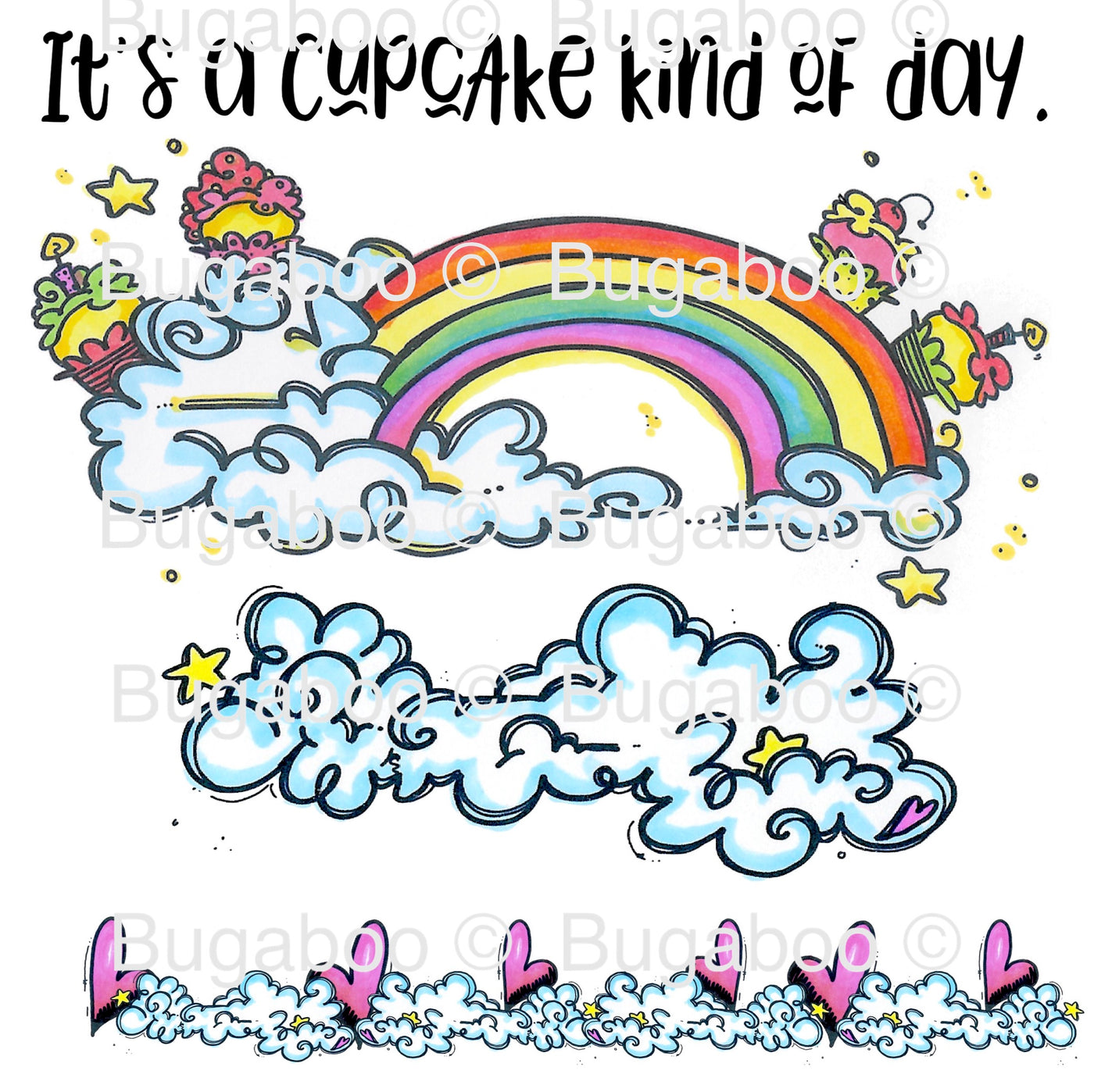Cupcake Rainbow Digital Stamp [DIGI908BG]