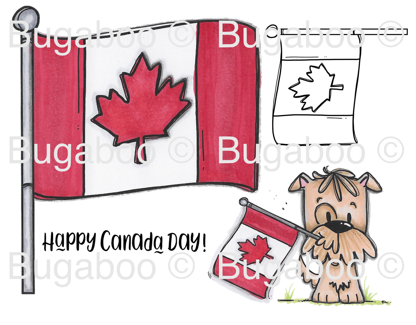 Sophie Pup-Canada Day Digital Stamp [DIGI900BG]