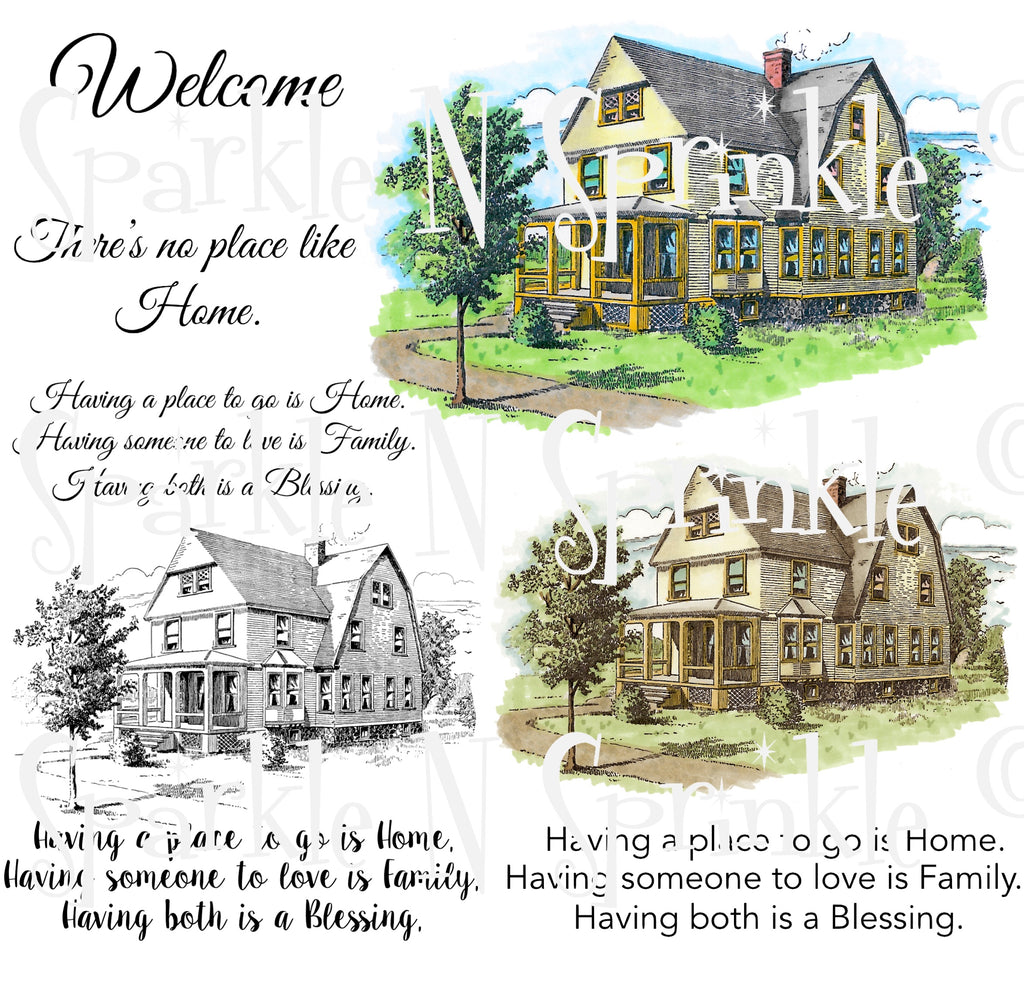 Vintage Country Home Digital Stamp Set [Digi911DE]