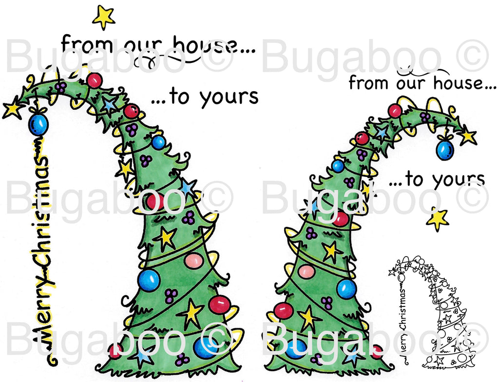 Merry Christmas Tree Digital Stamp [Digi906BG]
