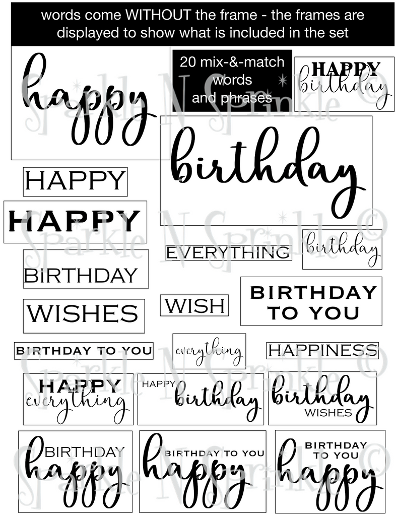 A Big Birthday Wish Digital Stamp Set, DIGI931DE