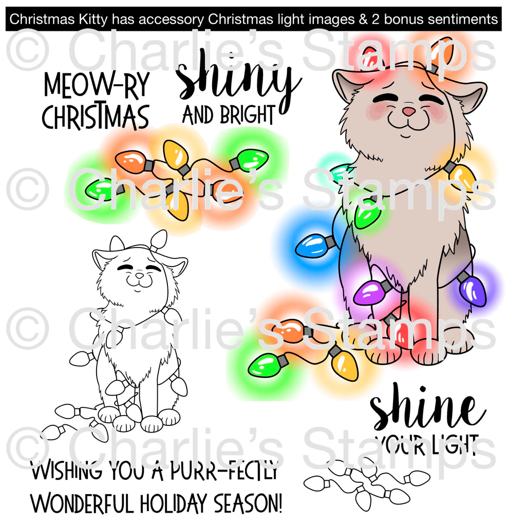 New   Christmas Kitty Digital Stamp Set [DIGI921CS]