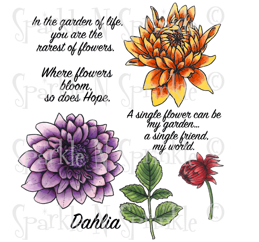 Dahlia Digital Stamp Set [DIGI500R]
