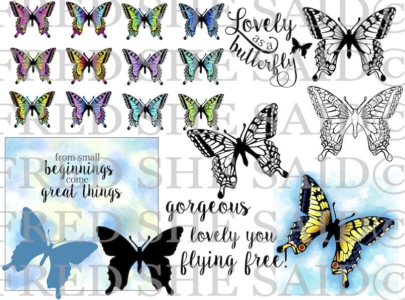 Swallowtail Butterflies Digi Stamp Bundle [DIGI856FS]