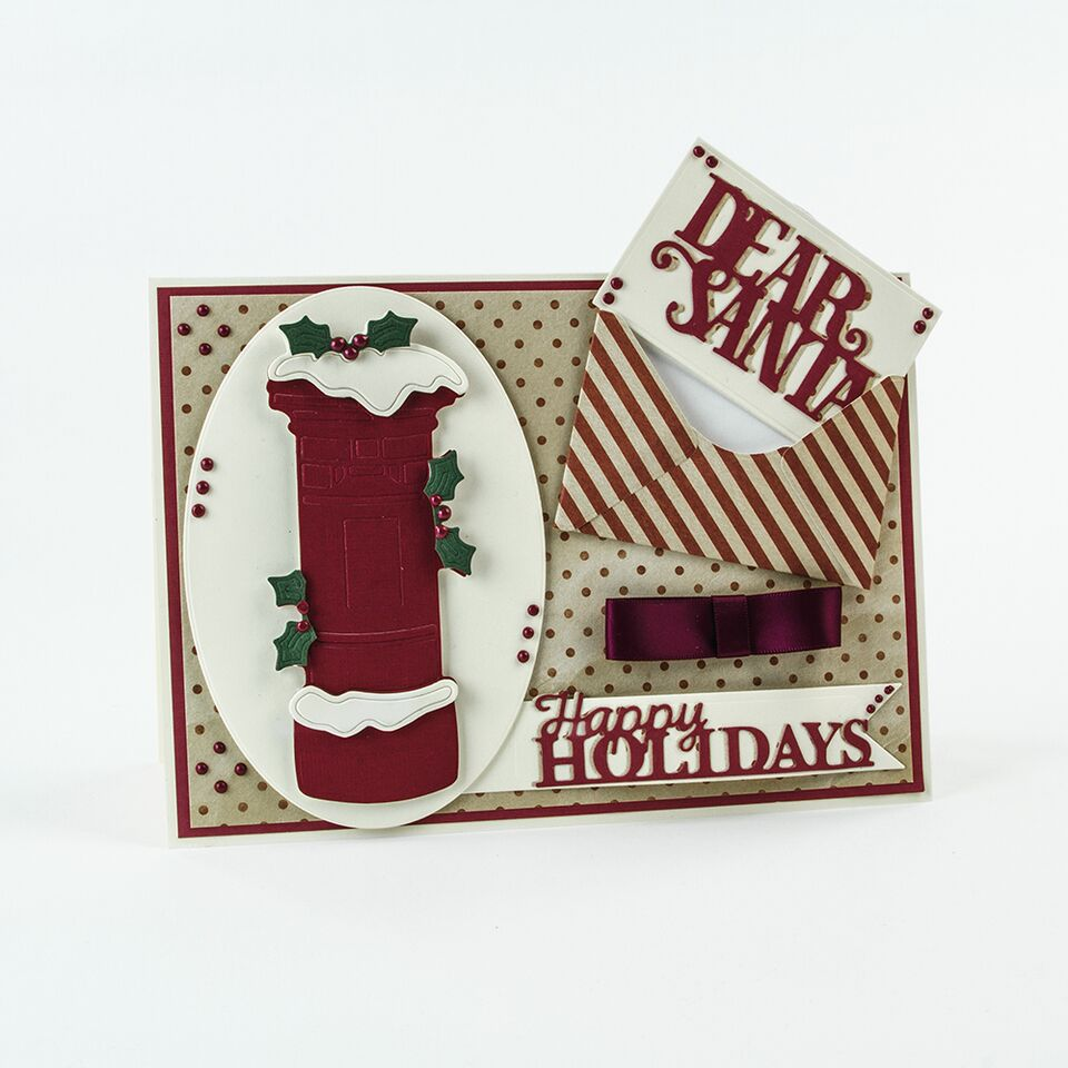 Miniature Moments Christmas Sentiments Happy Holidays Die [1401e]