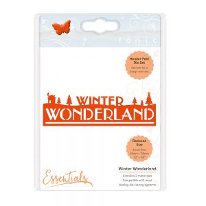 Tonic Die Christmas Header Fold Winter Wonderland Die 1410e
