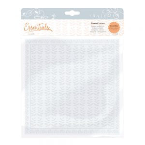 Tonic Embossing Folder Layered Leaves [1441e]