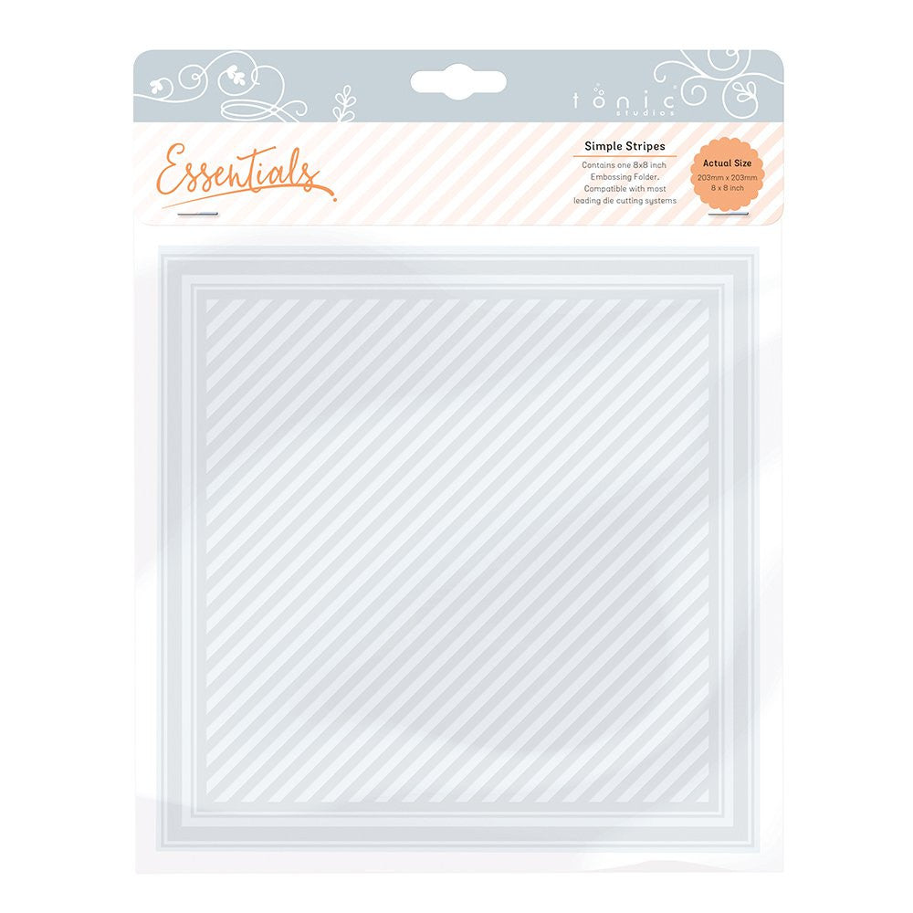 Tonic Embossing Folder Simple Stripes [1443e]