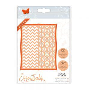 Tonic Die Framed Screens Zig Zag & Floral Motif Die Set [1446e]