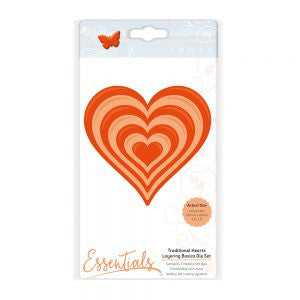Tonic Die Layering Basics Die Set Traditional Heart 1459e