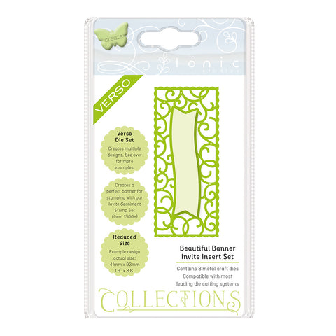 Tonic Die Set- BEAUTIFUL BANNER Invite – 1507e