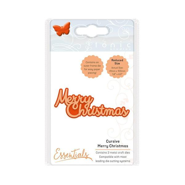Essentials Christmas Sentiments Cursive Merry Christmas, 1773E