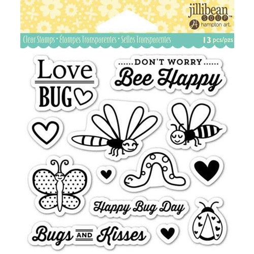 Love Bug Hampton Art Rubber Stamp Set, JB0842